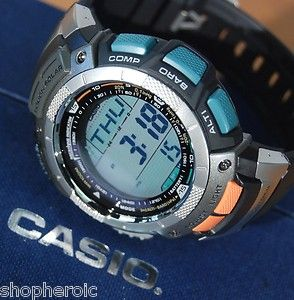 Casio Pathfinder MensCompass Solar Atomic Barometer Altimeter Watch