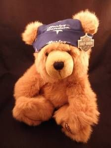 Harley Davidson 12 Brown Teddy Bear by Cavanaugh with Tag