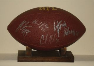 2011 NEW ORLEANS SAINTS AUTOGRAPHED FOOTBALL (W/ DREW BREES)