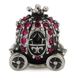 Ohm Princess Carriage Bead Charm for European Bracelet