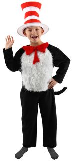 Dr Seuss Cat in The Hat Deluxe Childrens Costume 8 10