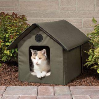 OUTDOOR HEATED WATERPROOF CAT HOUSE Soft Foam Electric Heater NEW