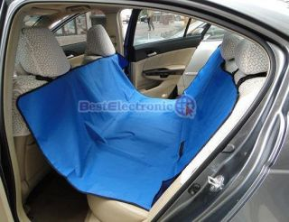 new hammock pet dog cat car seat cover blue