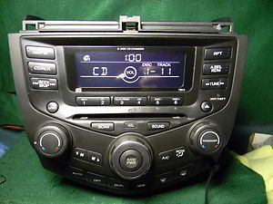 Honda Accord 6 CD changer Radio AUX  Ipod Dual climate 39175SDNL110