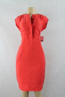 Donna Morgan Women Casual Dress Sleeveless Flame Red Orange Size 4