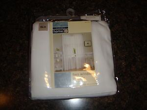 Target Casual Home white sailcloth 84 window panel pair NEW