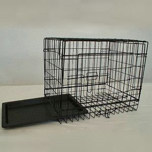 Small Folding Pet Dog Cat Wire Cage Crate Kennel Carrier 19 x 13 x 16
