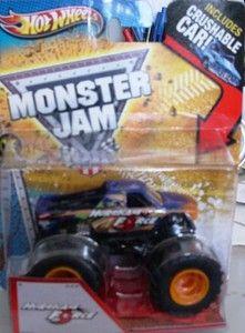 2013 Monster Jam  Hurricane Force  New Truck w Crushable Car