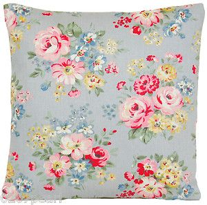 Cushion Pillow Cover Cath Kidston Fabric Spring Bouquet Dove Grey