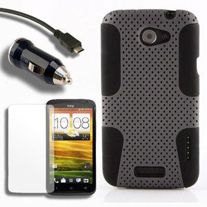 Case Car Charger Screen Protector for HTC One X A Cover Skin Holster
