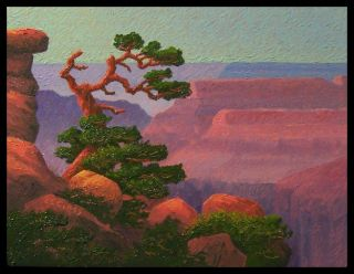 Glass Grand Canyon Lone Cedar 2 Byxbe Sandzen Start $1 No