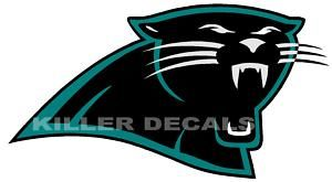 24 Carolina Panthers Window Wall Vinyl Decal 101 24