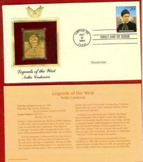 Nellie Cashman Legends of West 22K Gold Stamp Replica