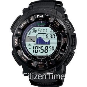 New Casio PROTREK Black Atomic Solar PRW2500 1A Watch