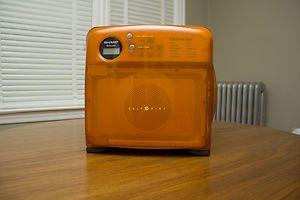 Sharp Half Pint Carousel Microwave Orange Spotless and fully