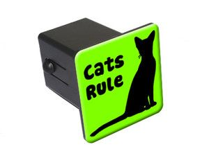 Cats Rule Tow Trailer Hitch Cover Plug Insert Truck Pickup RV