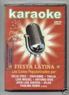 DVD Karaoke Celia Cruz Chayanne Thalia Luis Miguel New