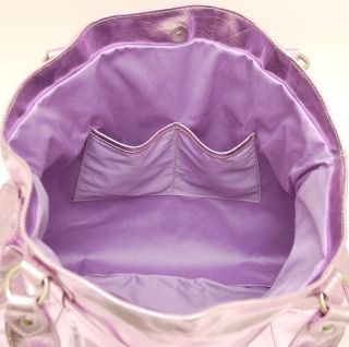 Cavalcanti Italian Leather Large Tote Handbag Lilac