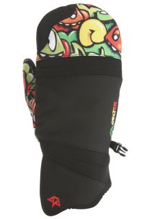 Celtek Snowboard Ski Mittens Mens Chroma Black Rasta Medium