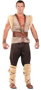 Barbarian Viking Thor Caveman Warrior Adult Mens Halloween Costumes