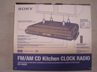 Cabinet kitchen cd player clock am fm radio digital tuner - Sony icfcdk50 under cabinet kitchen cd clock radio ...