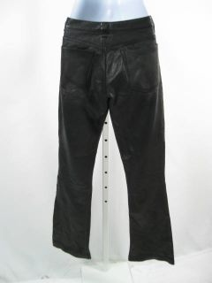 CENTREVILLE PARIS Black Leather Pants Slacks SZ S