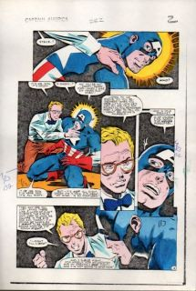 America 282 Marvel Comic Book Color Guide Art Page 2 Zeck