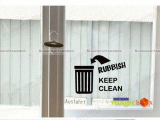 Kitchen Bathroom Decor Ceramic Tile Wall Sticker Rubbish Keep Clean