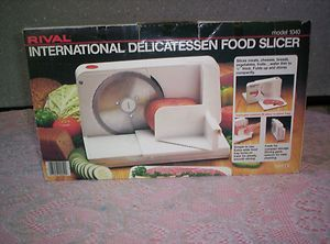 White Rival International Delicatessen Food Slicer Model 1040