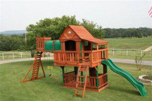 Huge Cedar Outdoor Play Set and Swing Set Woodridge