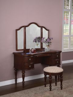 British Colonial Style Parquet Vanity Dressing Table Desk Makeup