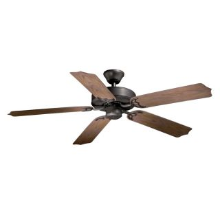 NEW 52 inch Outdoor Energy Star Ceiling Fan, Bronze, 5 Plastic Blades
