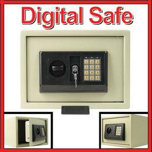 Digital Safe Box Home Security Lock Gun Money Cash Key Office