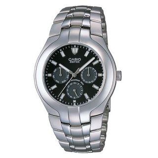 New Casio Edifice Multifunction Analog Display Black Mens Wrist Watch