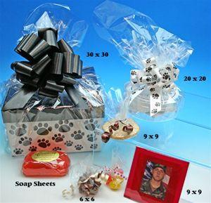 100 PK 12 x 12 Cellophane Sheets Clear Cello Wrap Gift Basket Supplies
