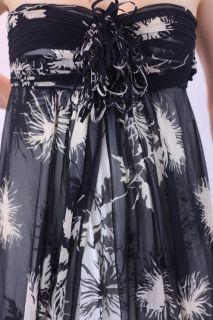 Black Label Silk Empire Waist Strapless Celinda Gown E1001D18