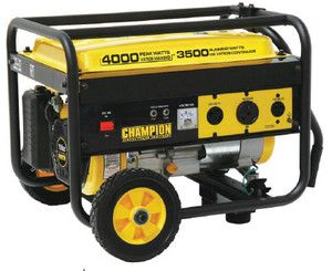 New Champion 4000 watt Gas Portable Gasoline Generator w/ wheel kit