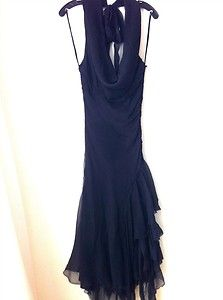 Catherine Malandrino Black Silk Halter Dress size 6 NWT