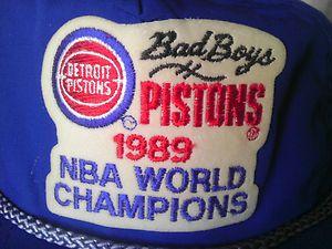 Pistons BAD BOYS Snapback Hat Cap NBA World Champions 1990 Vintage