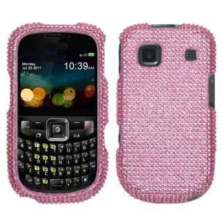 For ZTE Z431 Cell Phone Case Cover Bling Rhinestones Pink Diamond