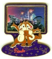 Chip Dale Castle Fireworks Where Friends Share The Magic 3D DLR Le