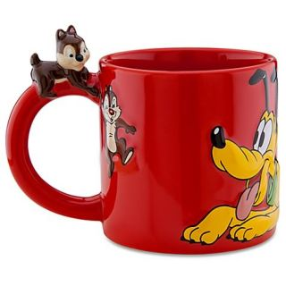 Silver Anniversary Cup Dog Chip Dale Pluto Ceramic Coffee Mug