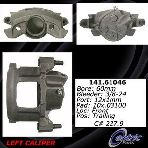 Centric Front Left Disc Brake Caliper 141 61046