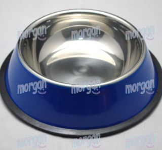 Stainless Steel Pet Dog Food Bowls Dog Feeder Dish Water Bowl 2 in One