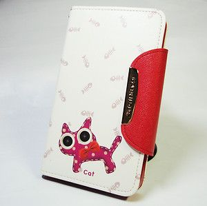 Premium image diary Leather case Cat For Samsung Galaxy Note N7000