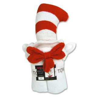 dr seuss cat in the hat hooded towel 3t includes 1 hooded towel fits