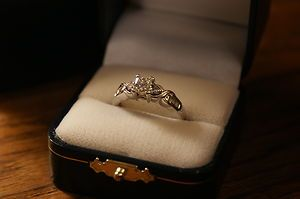 Engagement Ring Is A 3 4 Cut Princess Cut Center Diamond