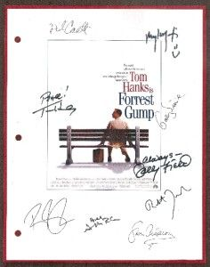 FORREST GUMP SCRIPT SIGNED RPT TOM HANKS, SALLY FIELD, GARY SINISE