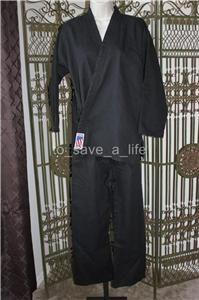 Century Martial Arts Karate Tae Kwon do Uniform Gi Black Size 4 Adult