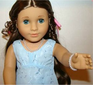 Doll Clothes Fit American Girl Cecile Marie Grace Pearl Necklace Set